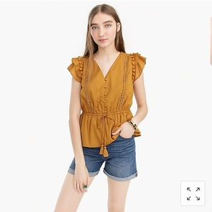 Flutter sleeve point sur top from j crew